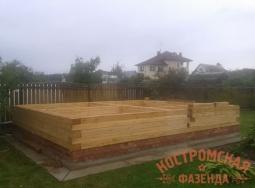 Строительство дачного дома из профилированного бруса
