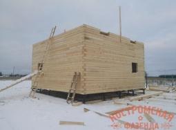 Строительство коробки дома из бруса
