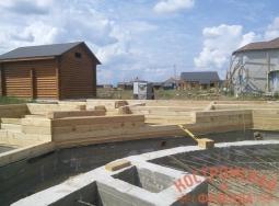 Сборка деревянных домов из бруса